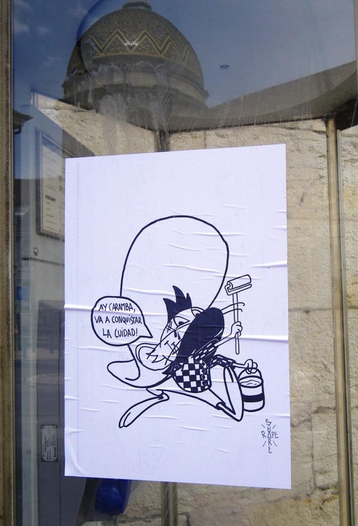 besancon street art affiche ay caramba 1 fragment de tags. Black Bedroom Furniture Sets. Home Design Ideas