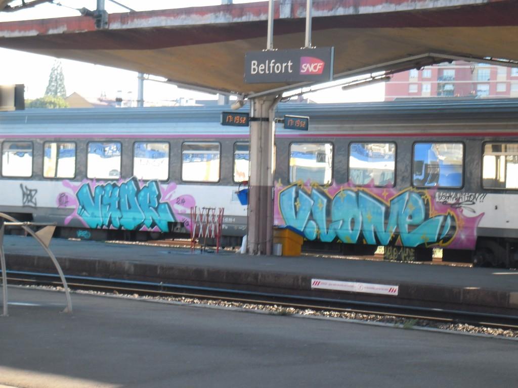 Vyde, V.Lone - graffiti - train - belfort, 2014