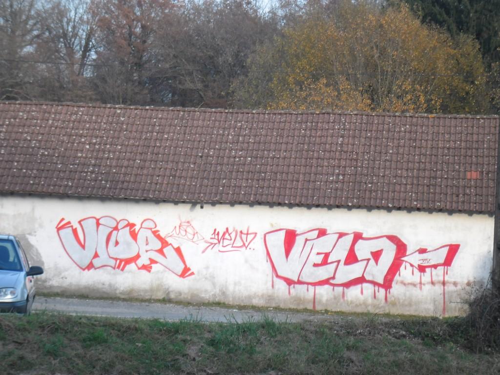 vide, velo, belfort graffiti 2014