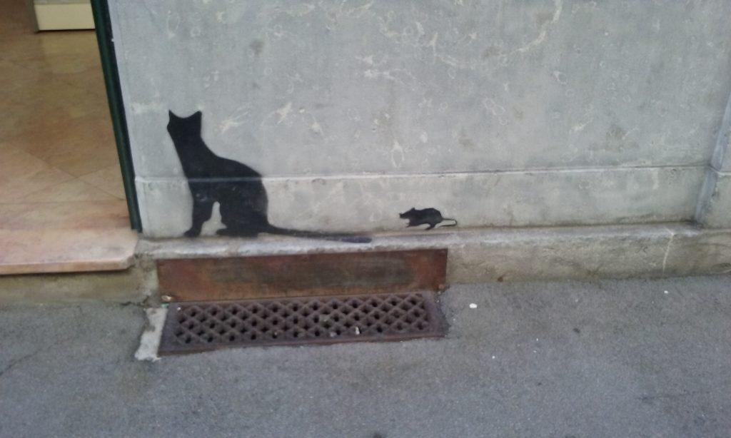 besancon juillet 2016 stencil cat and mouse